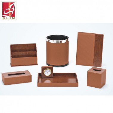Sijin leather collections, leather notepad holder for hotel