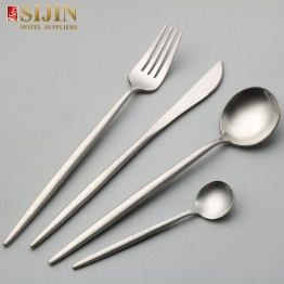 思锦酒店餐具4件,18/10 304不锈钢银餐具套装