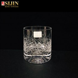 Sijin hotel glassware carving whiskey glass cup