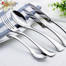 思锦雅致设计201不锈钢餐具,银质西餐厅餐具套装